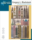 Gregory L. Blackstock: The World Landmark Buildings 500-piece Jigsaw Puzzle