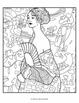 Gustav Klimt Coloring Book