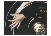 Hand and Wheel Postcard