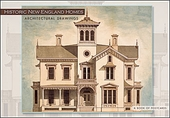 Historic New England Homes: Architectural Drawings Book of Postcards