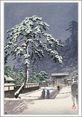 Honmonji Temple in Snow Christmas Cards