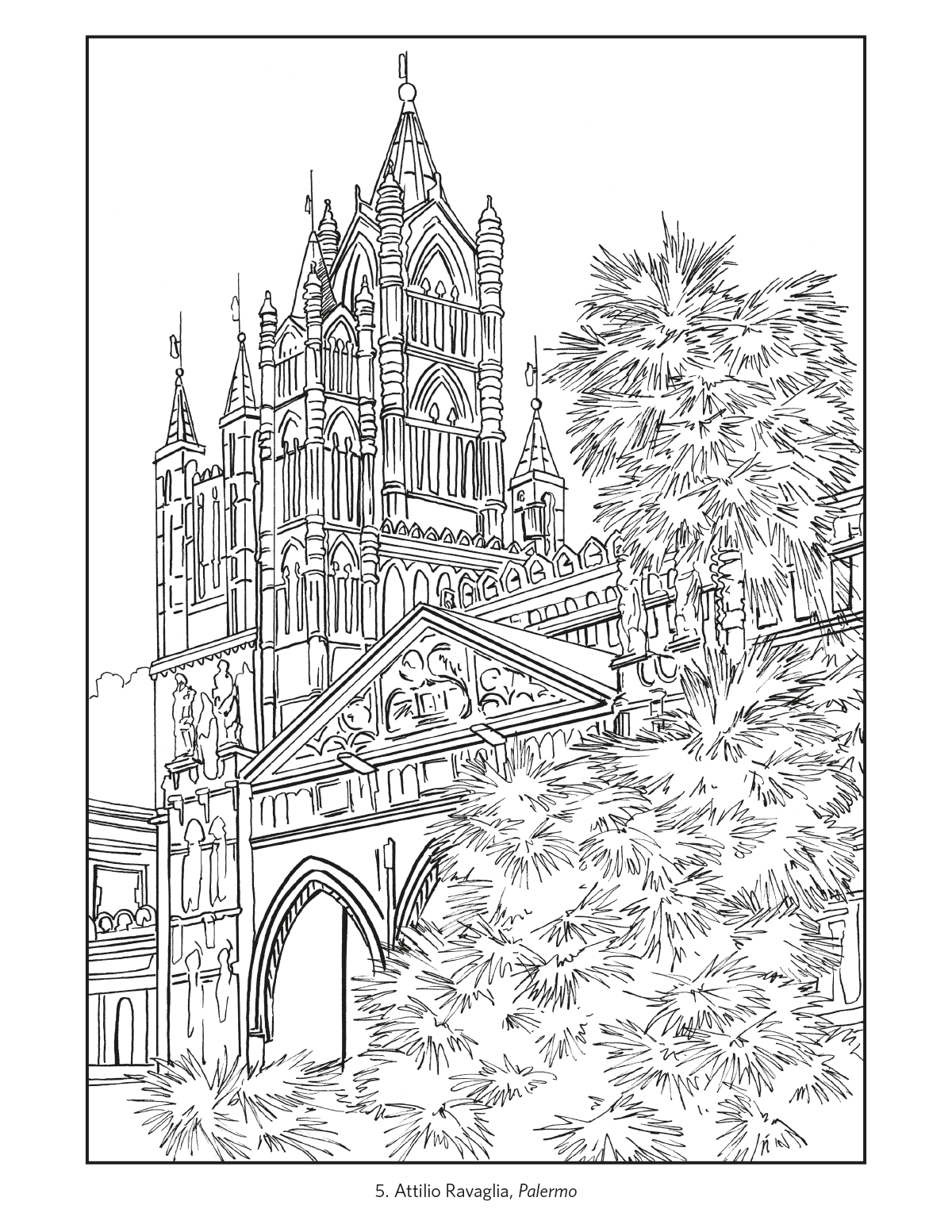 Clip Art Coloring Pages Of Italy italy travel posters coloring book