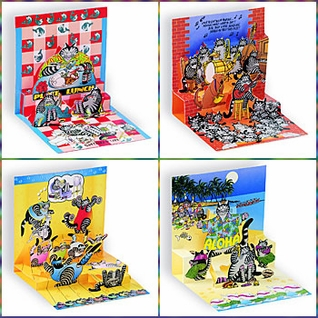 Kliban Cat Pop Up Card Set of Four