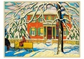Lawren S. Harris: Red House and Yellow Sleigh Holiday Cards
