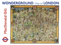 MacDonald Gill: Wonderground Map of London Boxed Notecards