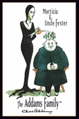 Morticia and Uncle Fester: The Addams Family Magnet
