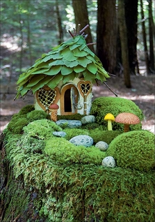 Moss Garden Cottage Notecard