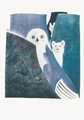 Owl, Fox and Hare Legend Notecard