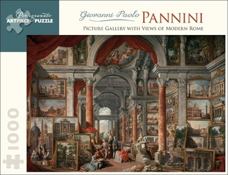 Pannini's Picture Gallery with Views of Modern Rome 1,000-piece Jigsaw Puzzle