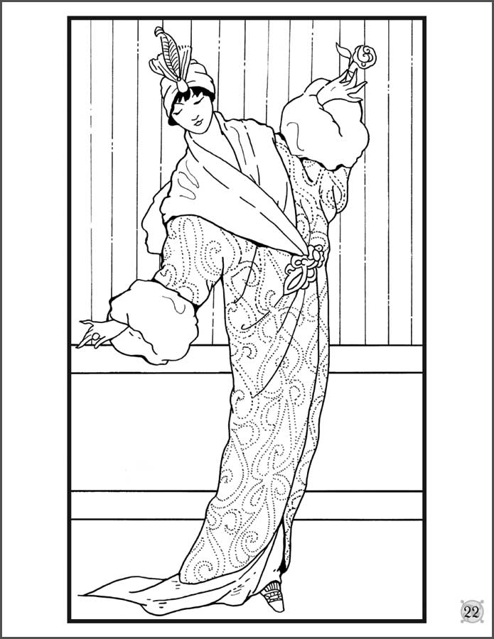 Woman Fashion Coloring Pages