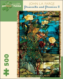 Peacocks and Peonies II 500-piece Jigsaw Puzzle