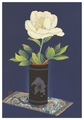 Peony in Bamboo Vase Notecard