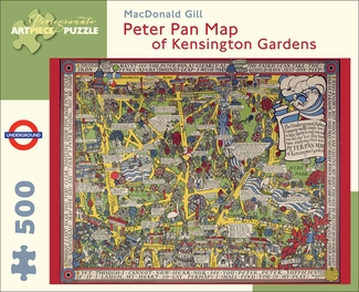 Peter Pan Map of Kensington Gardens 500-piece Jigsaw Puzzle