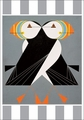 Charley Harper's Puffins Passing Holiday Cards