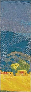 Rain in Mountains Bookmark