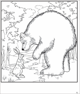 Robert Bissell's Rabbits and Bears Coloring Book