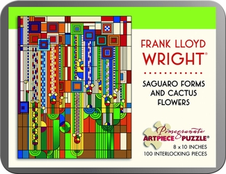 Saguaro Forms and Cactus Flowers 100-piece Jigsaw Puzzle