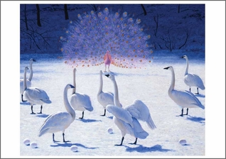 Snow Geese with Peacock Notecard