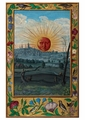 Sun with Human Face Rising Postcard