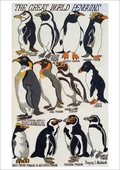 The Great World Penguins Notecard