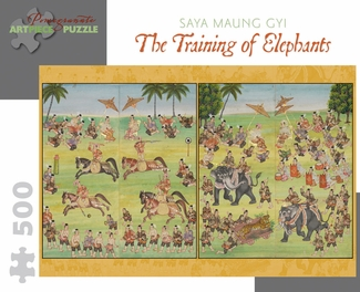 The Training of Elephants 500-piece Jigsaw Puzzle