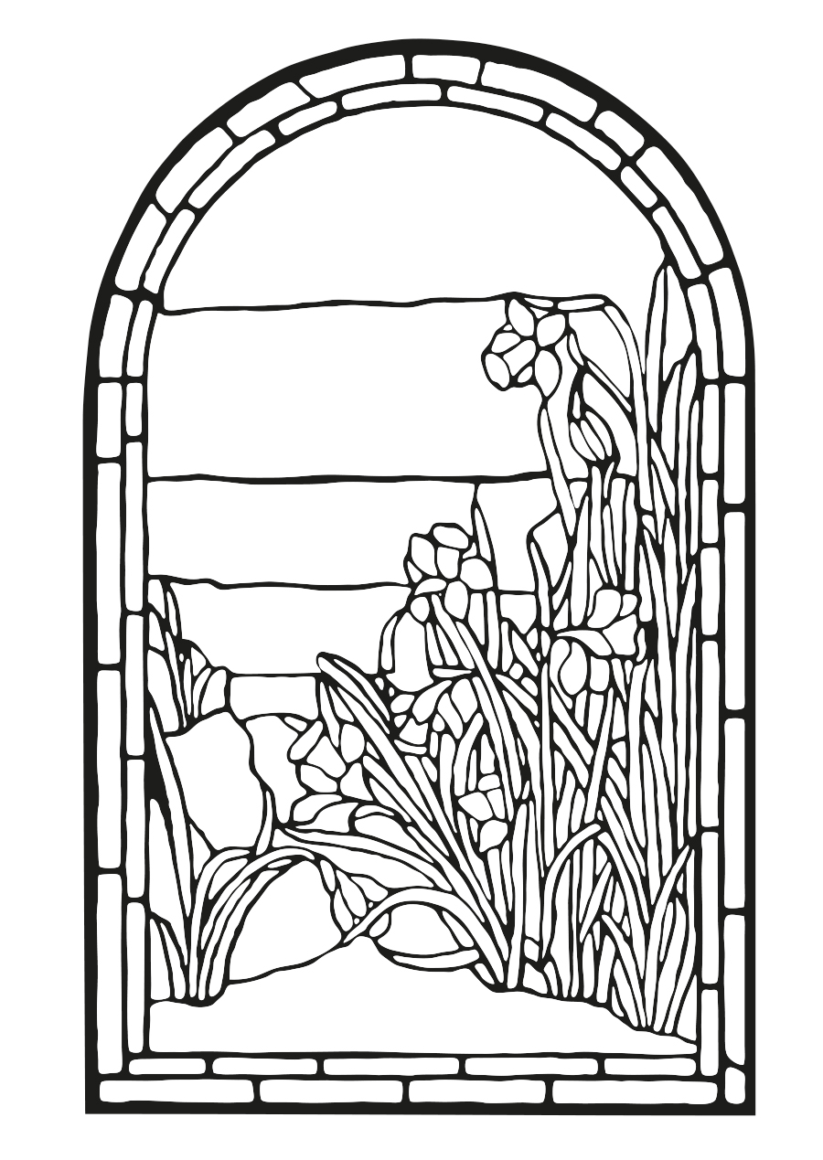 Coloring Pages Stained Glass Window