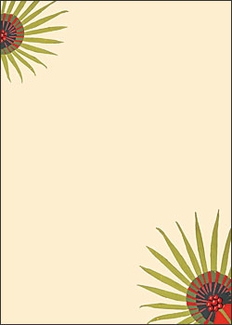 "Tropical Floral Design 5 x 7"" Notepad"