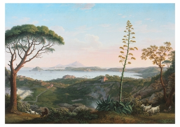 View of the Gulf of Pozzuoli from Solfatara Notecard