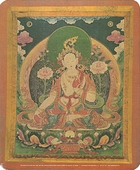 White Tara: Goddess of Compassion Mouse Pad