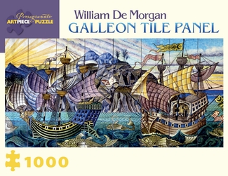 William De Morgan: Galleon Tile Panel 1,000-piece Jigsaw Puzzle