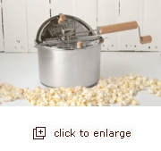 Stainless Steel Whirley Pop Stovetop Popcorn Popper with Metal Gears