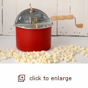 Whirley Pop Popcorn  Popper - Home Again Red