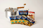 Whirley Pop Popcorn Popper with Real Theater Popcorn 5 Pack