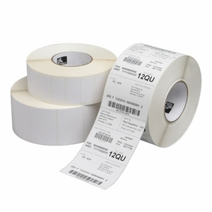 "0.9375"" x 0.9375""  Zebra Thermal Transfer PolyPro 4000T Kimdura Polypropylene Label;  1"" Core;  1900 Labels/roll;  6 Rolls/carton"