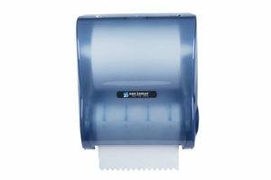 "10"" Simplicity Hands-Free Mechanical Roll Towel - Arctic Blue"