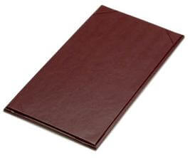 "11"" x 5 1/2"" One Panel Menu Covers (25 cover per pack)"