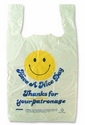 "12"" x 7"" x 22"" Smiley T-Shirt Bags (900 bags)"
