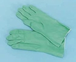 "13"" Green Flocklined Nitrile Gloves (1 dozen)"