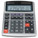 15971 Large Digit Commercial Calculator, 12-Digit LCD, Dual Power, Silver