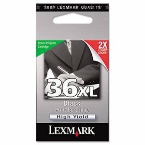 Lexmark 18C2170 (36XL) High-Yield Ink, 500 Page-Yield - Black