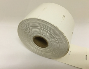 "2.25"" x 1.35"" Direct Thermal Hang Tag;  1"" Core;  12 Rolls/case;  967 Labels/roll"