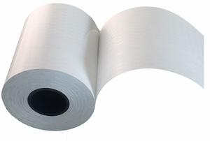 """2.25"""" x 150'  Print & Stick Thermal Paper (18 rolls/case) - Oval Adhesive"""