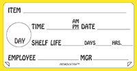 2 x 4 Inch Food Rotation Label-REMOVXTRA(TM) (500 Labels)  <font color=red>*Clearance Item*</font>