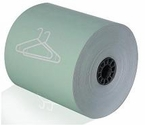 "3 1/8"" x 165' Dry Cleaning Heavy Thermal Paper (Green) (50 Rolls)"