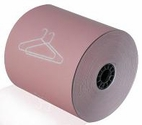 "3 1/8"" x 165' Dry Cleaning Heavy Thermal Paper Paper (Pink) (50 Rolls)"