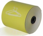 "3 1/8"" x 165' Dry Cleaning Heavy Thermal Paper (Yellow) (50 Rolls)"