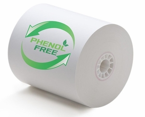 "3 1/8"" x 230' (80mm x 70m) BPA & BPS Free Thermal Paper (50 rolls/case) - Phenol Free"