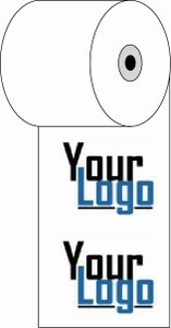 """3 1/8"""" x 273'  (80mm x 83m)  Custom Printed Thermal Paper  (750 rolls/case) - 2-Color"""