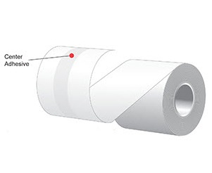 "3.125"" x 160'  MAXStick 15# Direct Thermal ""Sticky Paper"" (24 rolls/case) - Center Adhesive"
