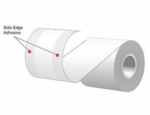 """3.125"""" x 160'  MAXStick 15# Direct Thermal """"Sticky Paper"""" (24 rolls/case) - Side-Edge Adhesive - Orange"""